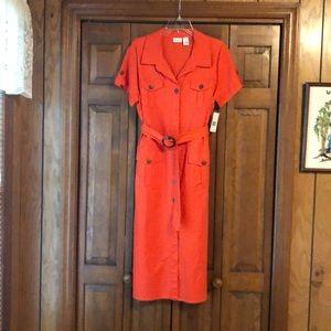 Kim Rogers Orange Dress